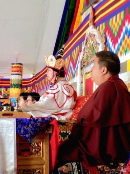Cremation ceremony of Kyabjé Shenphen Dawa Rinpoche